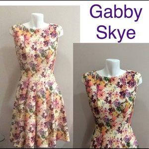 Gabby Skye Floral Fit & Flare Dress Floral